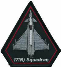No. XVII (17) (R) Squadron Royal Air Force RAF Eurofighter Typhoon Spearhead Embroidered Patch